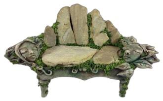 Meditation garden bench